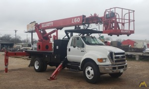 2006 Ford F750 Non-CDL Elliott L60 Sign Crane