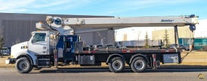 2007 Manitex 35100C 35-Ton Boom Truck w/ Heated Crane Cab, Trailer & Tools