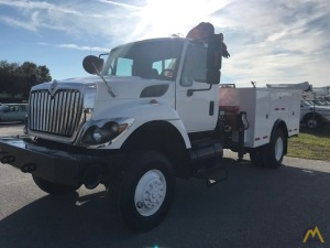 2008 International 7300 4x4 Flatbed Knuckle Boom Truck