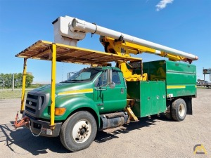 2011 Altec LRV60-E70 Forestry Bucket Truck Mounted on Ford F750 Super Duty