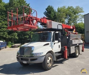2013 International 4300M7 Elliott L60R 3-Ton Sign Crane Truck - M74605