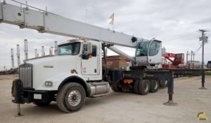 2013 Manitex 5096S 50-Ton Boom Truck Crane Mounted on Kenworth T800