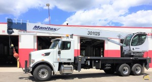 Manitex 30112S 30-ton Boom Truck Crane on Peterbilt