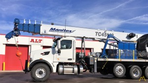 Manitex TC45142 45-ton Boom Truck Crane on Peterbilt 567
