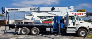 2019 Manitex 30102C 30-Ton Boom Truck Crane on a 2020 Peterbilt 348