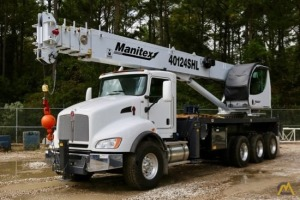 2019 Manitex 40124SHL 40-Ton Boom Truck Crane on 2019 Kenworth T880