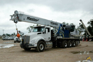2021 Manitex TC50155X mounted to 2022 Kenworth T880 chassis