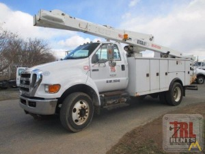 48' Versalift VO-43-I Bucket Truck on Ford F-750