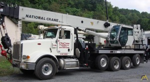 National NBT50 50-ton Boom Truck Crane on Peterbilt 365