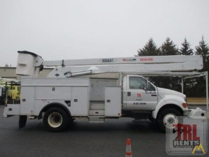 60' Versalift VN-55-I Articulating Bucket Truck on Ford F-750