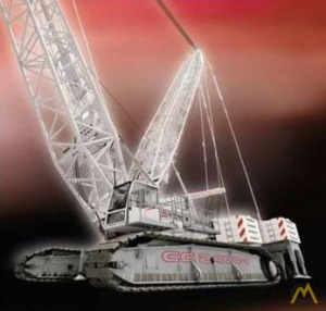 600t Terex-Demag CC 2800 Lattice Boom Crawler Crane