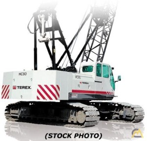 80t Terex HC 275 Lattice Boom Crawler Crane