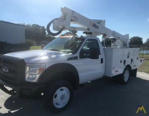 Altec AT37G 42' Articulating Bucket Truck on 2014 Ford F550