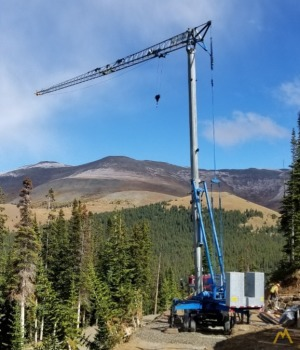 Benazzato 1179-SC,  1.65-Ton Self-Erecting Tower Crane