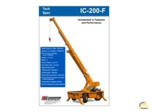 Broderson IC-200-3F 15-Ton Carry Deck Industrial Crane