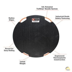 DICA DR60-3 SafetyTech Super Duty Outrigger Pad, Round 60 inch x 3 inch