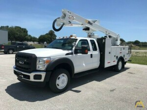 Altec AT40G 45' Articulating Telescopic Boom Bucket Truck on 2012 Ford F550 4x4 Extended Cab