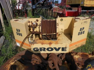 Grove AP 308 Counterweight , Superstructure & Hoist
