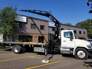 Hiab X-HiDuo 138 E-5 Knuckle Boom Crane on Hino 338