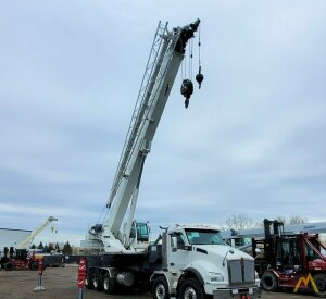 Load King Stinger 80-126 80-ton Boom Truck Crane on Kenworth T880