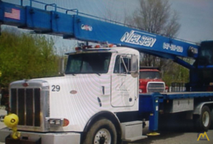Manitex 2592 25-ton Boom Truck Crane on Peterbilt