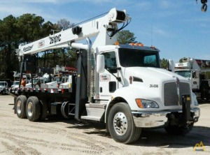 Manitex 26101C 26-ton Boom Truck Crane on Kenworth