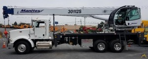Manitex 30112S 30-Ton Boom Truck Crane on Peterbilt 367