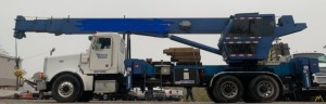 Manitex 35100 35-ton Boom Truck Crane on Peterbilt