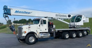 Manitex 50128SHL 50-ton Boom Truck Crane on Peterbilt 367