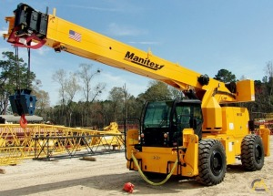 Manitex M150 15-Ton Down Cab Rough Terrain Crane For Sale