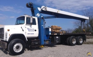 Manitex 2592S 25-ton Boom Truck Crane on Ford L8000
