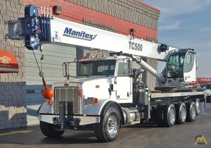Manitex TC50155S 50-Ton Boom Truck Crane on Peterbilt 365