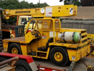 Broderson IC-35-2B 4-ton Carry Deck Industrial Crane