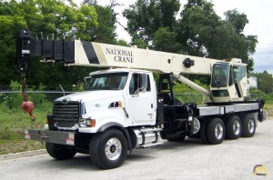 National Series 1500 Model 15127 36-Ton Boom Truck Crane on Sterling L8500