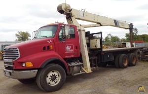 National Series 500E Model 560E 18-ton Boom Truck Crane on Sterling LT8500