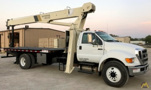 National 500E2 Series 571E2 18-Ton Boom Truck Crane on Ford F750 XL