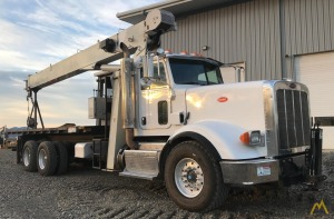 National 8100D 23-ton Boom Truck Crane on Peterbilt 367