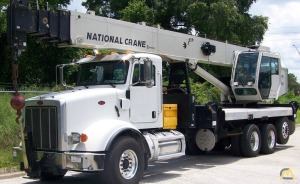 National NBT40 40-Ton Boom Truck Crane on Peterbilt 365