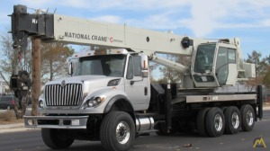 National NBT55-102 55-ton Boom Truck Crane on International WorkStar