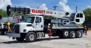 New Elliott 36127R 36-Ton Boom Truck Crane on a Freightliner 108SD