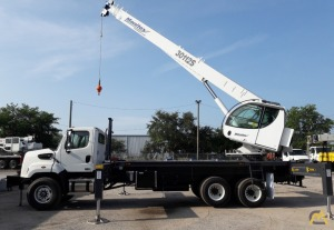 New Manitex 20112S 30-Ton Boom Truck Crane on a new Freightliner 108SD