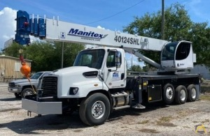New Manitex 40124SHL 40-Ton Boom Truck Crane on New Freightliner 114SD