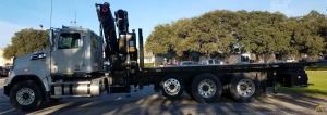 PM 38528 SP Articulating Knuckle Boom Crane on Western Star 4700S