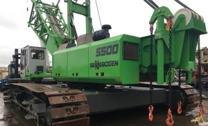 Sennebogen 5500 180-Ton Lattice Boom Crawler Cranes