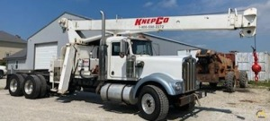 Simon RO TC 2863 14.4-ton Boom Truck Crane on Kenworth W900