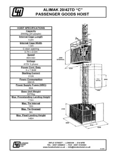 alimak hek specifications cranemarket  alimak construction tower hoist wiring diagram #6