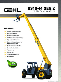 gehl ct7 23 turbo telescopic handler parts manual