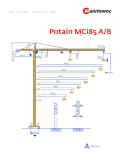 Tower Cranes Potain Mci 85 A B Specifications Cranemarket