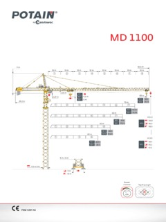 tower cranes potain md 1100 specifications cranemarketpotain md 1100 specifications potain md 1100 specifications