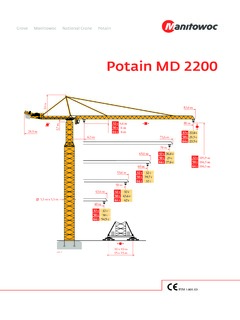 Tower Cranes Potain Md 2200 Specifications Cranemarket